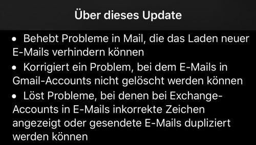 Ios 13 3 Mail Fehler