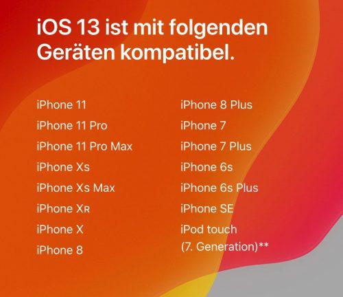 Ios 13 Kompatibel