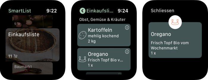 Smartlist Apple Watch App