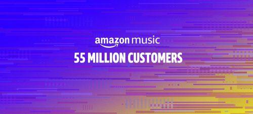 Amazon Music Unlimited 55 Millionen Abonnenten