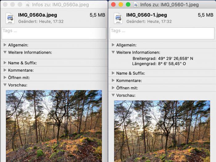 Bild Gps Infos Entfernen Iphone