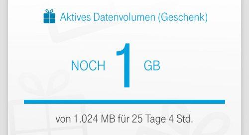 Datenvolumen Telekom