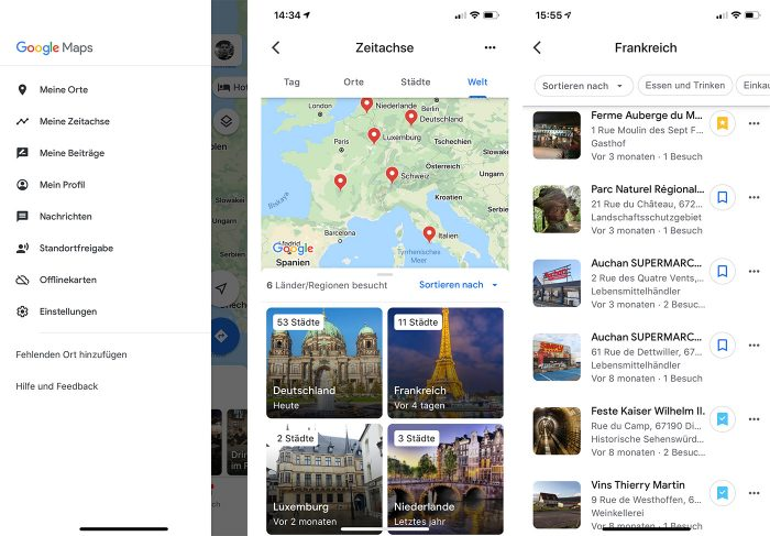 Google Maps Neue Zeitachse Ios