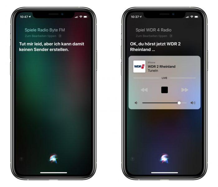 Radio Siri Fehlerhaft