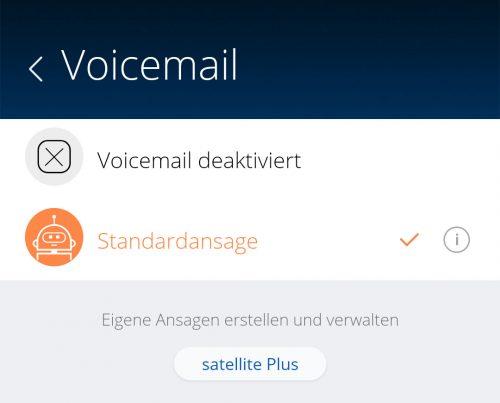 Voicemail Basisversion Satellite