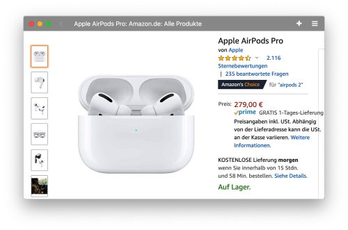 Airpods Auf Lager