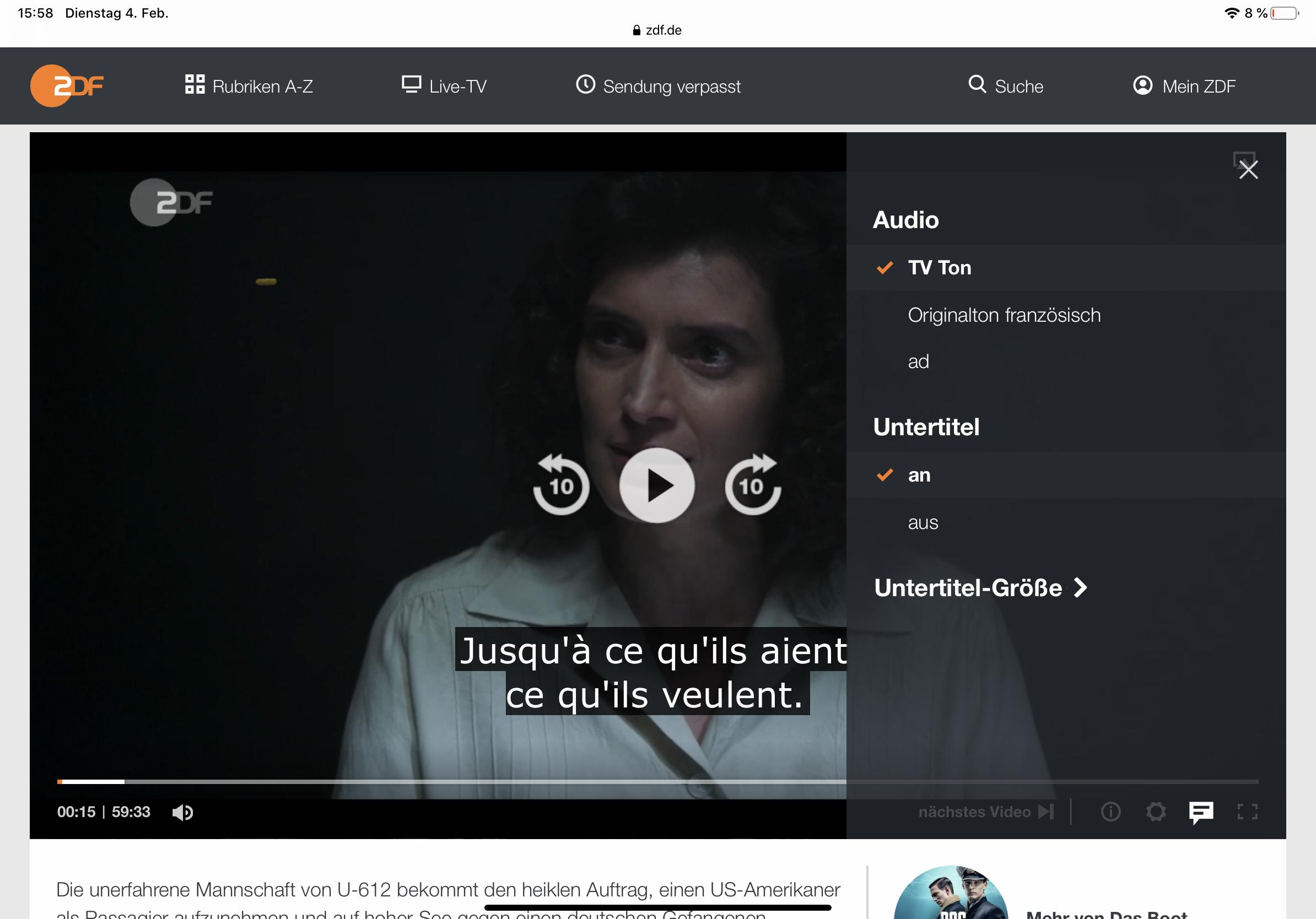 ZDF.de und ZDF-App: Unterschiedliche Untertitel und ...