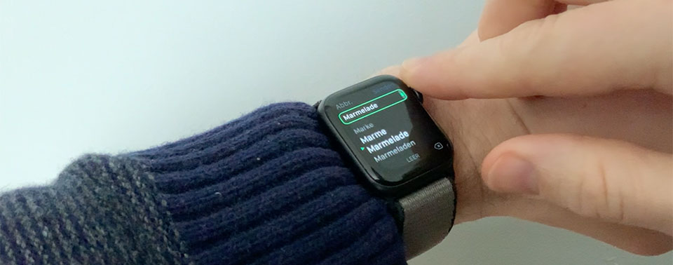 Apple Watch-Tipp: Erst Kritzeln, dann Krone