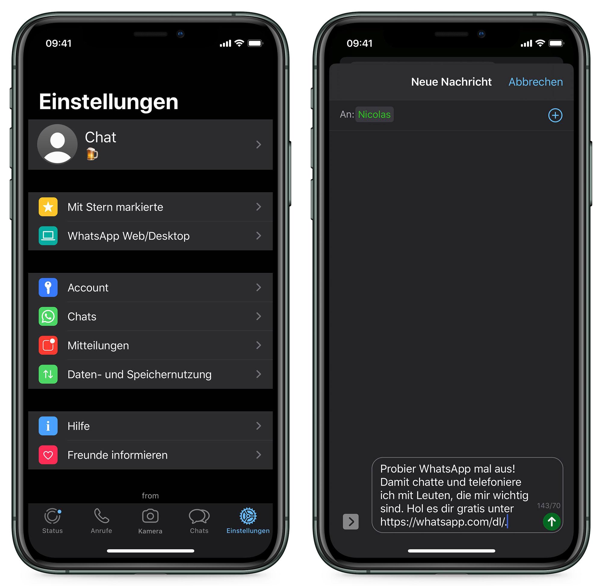 Whatsapp Dunkelmodus Ios