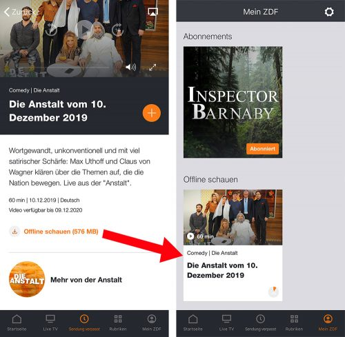 Zdf Mediathek App Offline Nutzen