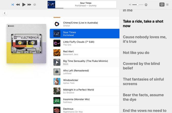 Apple Music Songtext Dynamisch Mac