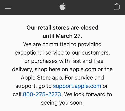 Apple Store Corona Schliessung