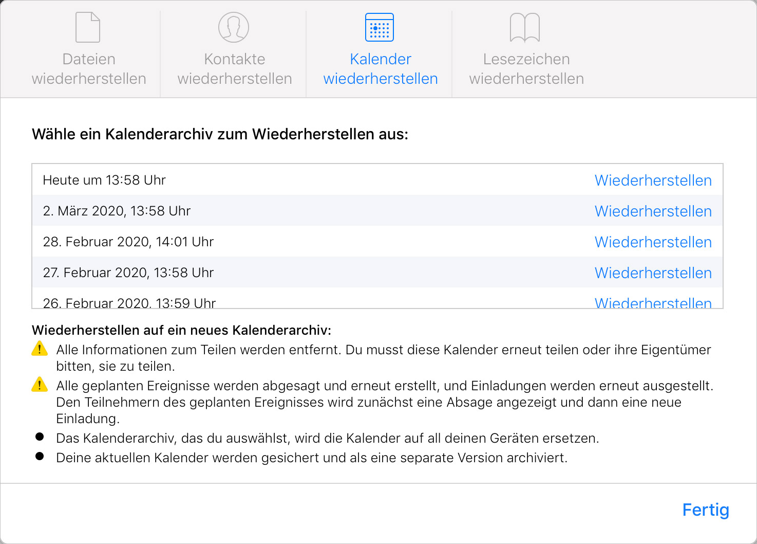 Aus Icloud Geloschte Dateien Kalender Und Kontakte Wiederherstellen Iphone Ticker De