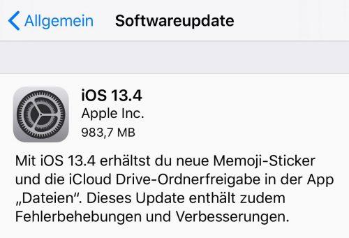 Ios 13 4 Update