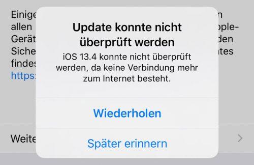 Ios Update Konnte Nicht Installiert Werden