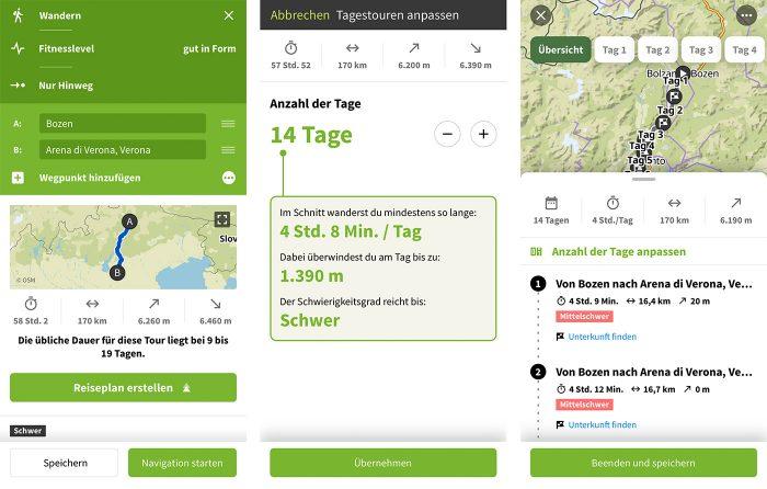 Komoot Mehrtagesplaner Ios App