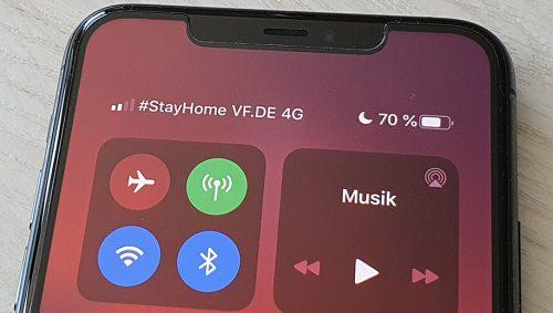 Vodafone Statusanzeige Stay Home