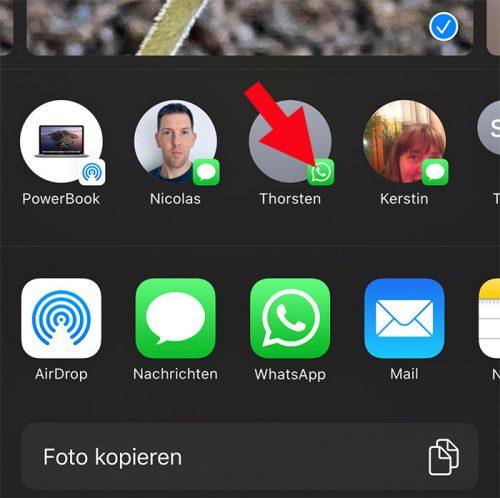 Whats App Teilen Vorschlaege Ios 13