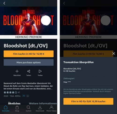 Amazon Prime Video In App Kauf Ios App