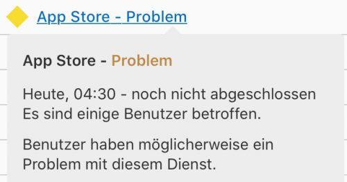 Apple Systemstatus Problem Im App Store