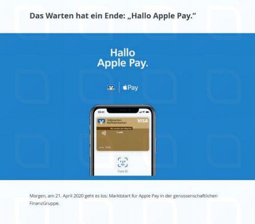 Hallo Apple Pay Volksbanken