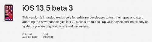 Ios 13 5 Beta 3