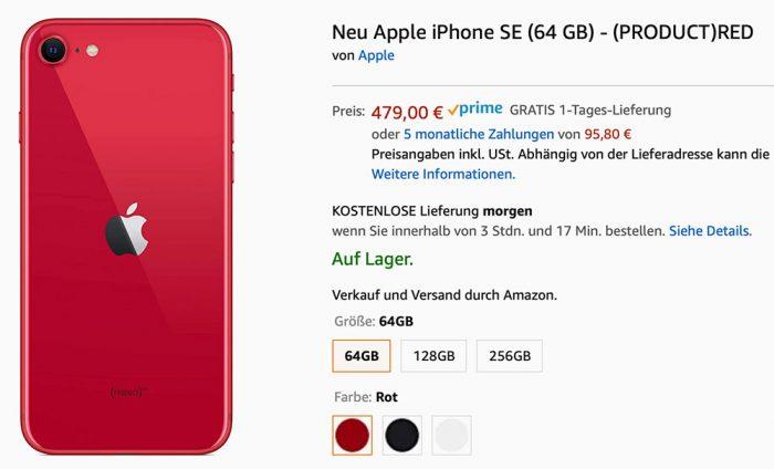 Iphone Se Bei Amazon Sofot Lieferbar