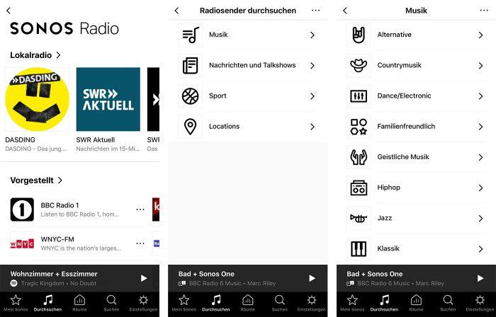 Sonos Radio App Screenshots