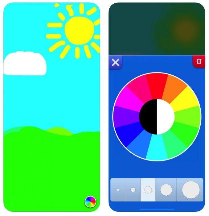 Kinder App Finger Painting
