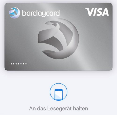 Barclaycard Apple Pay Deutschland