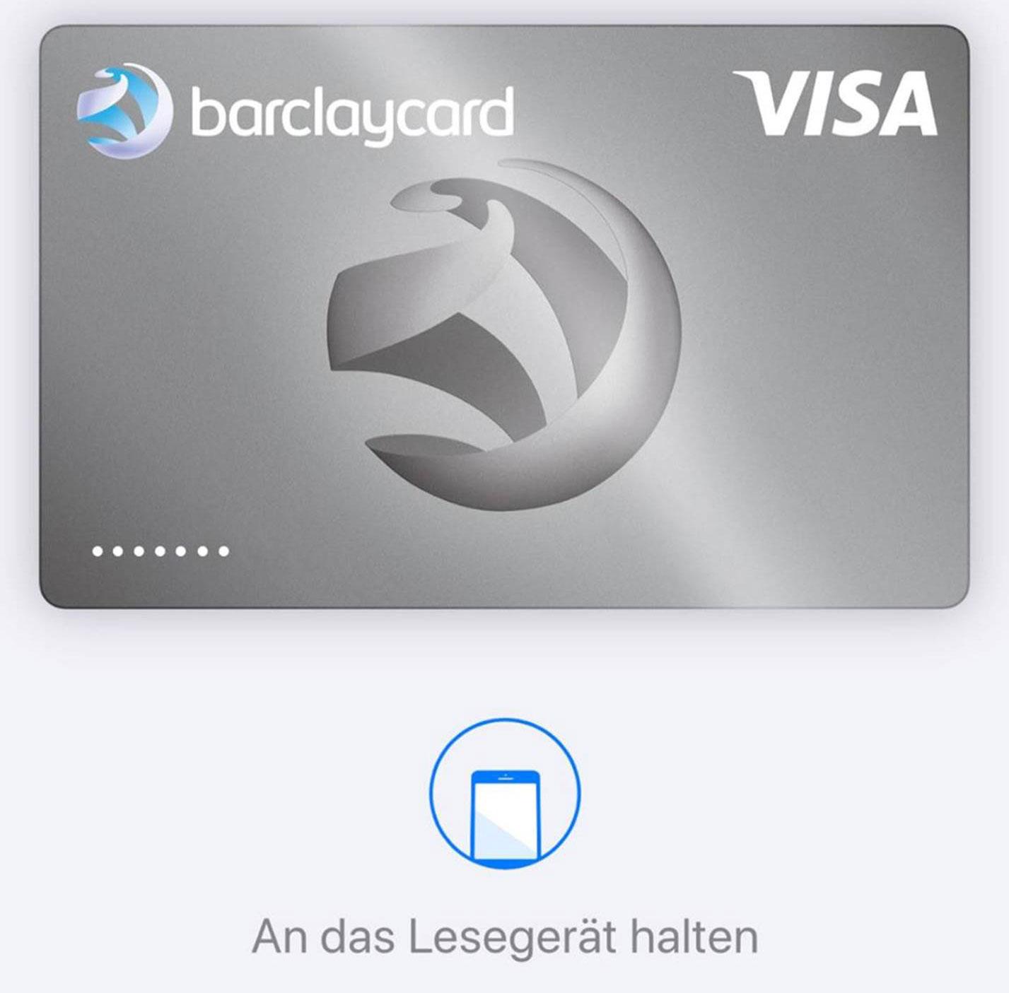 Apple Pay: Barclaycard Deutschland lässt sich einbinden › iphone