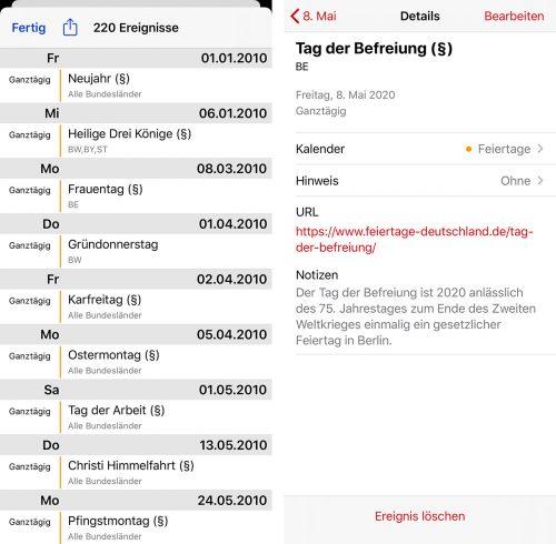 Feiertagskalender Deutsche Feiertage