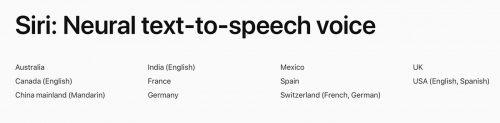 Siri Neue Stimmen