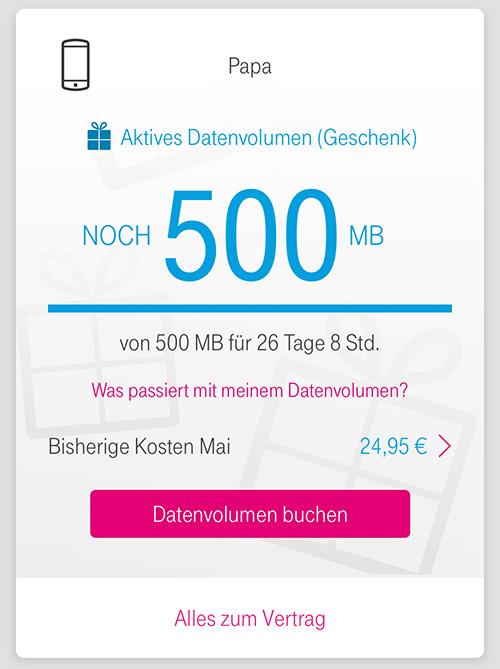 Telekom Family Card Datengeschenk