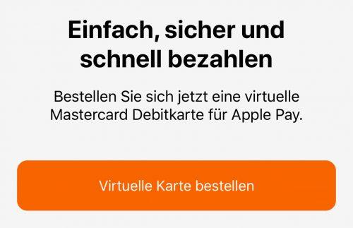 Volksbanken Apple Pay Mastercard Debit