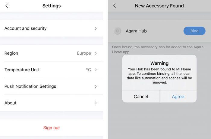 Aqara Home App Hub Binding
