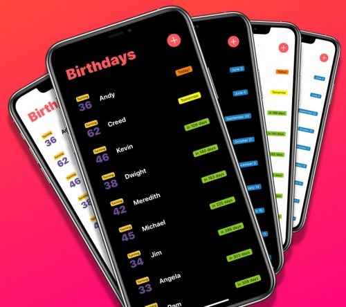 Birthdays App 3