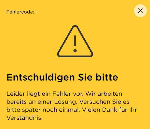 Commerzbank Fehler In App