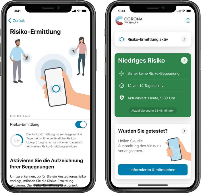Deutsche Corona App Scrrenshots Iphone