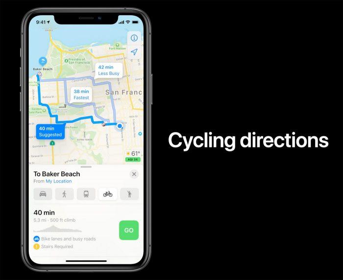 Ios 14 Maps Fahrrad