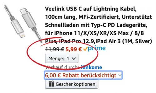 Mfi Kabel Usb C Lightning