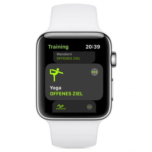 Yoga Training Apple Watch