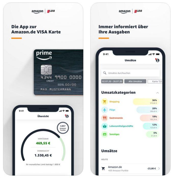Amazon Kreditkartescreenshot 1500