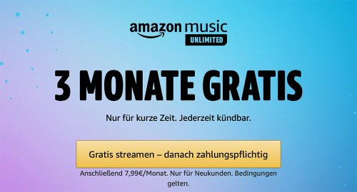 Amazon Music Unlimited Angebot