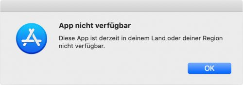 App Nicht Verfuegbar
