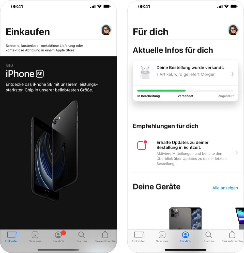 Apple Store App Neuer Menuepunkt Fuer Dich