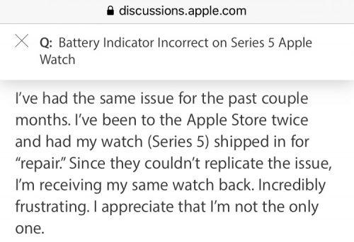 Apple Watch Akku Problem