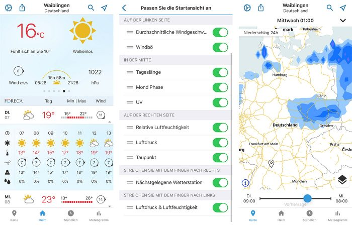 Foreca Wetter App Iphone Screenshots