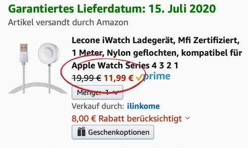 Mfi Apple Watch Ladekabel