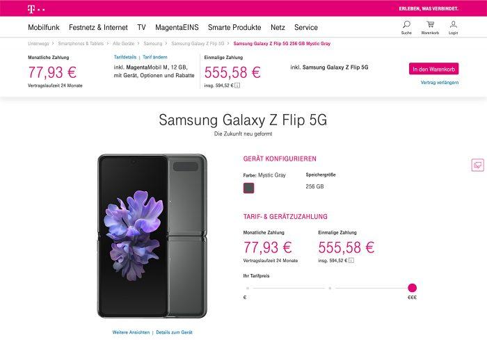 Samsung Galaxy Z Flip Telekom